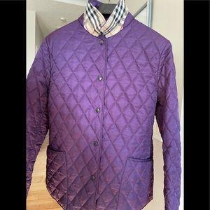 Authentic Burberry Purple Diamond Quilt Jacket